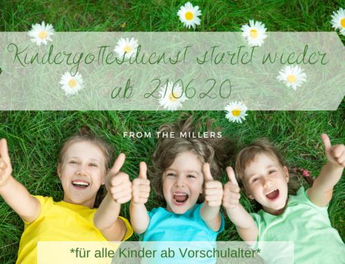 Kindergottesdienste ab 21.06.2020