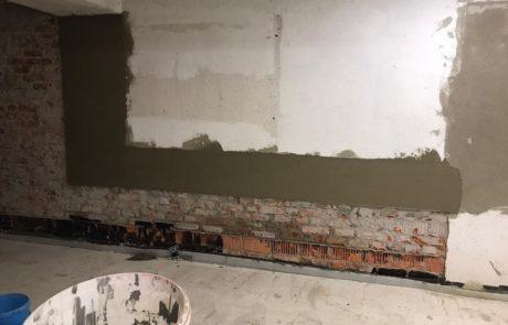 Wand im Kohlebunker ausbessern
