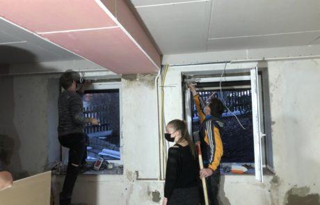 Vorbereitungsarbeiten an Wänden