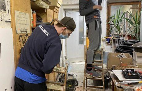 Kabelrinne in der Werkstatt